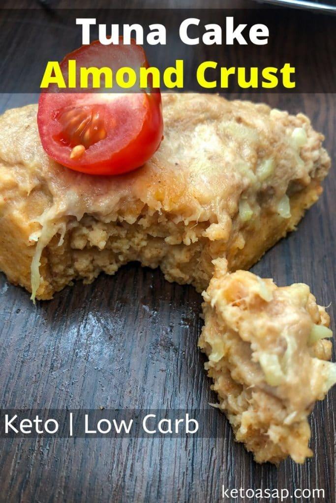 keto tuna cake almond crust