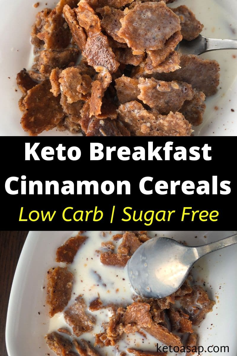 Keto Cinnamon Crunch Breakfast Cereal Low Carb Recipe