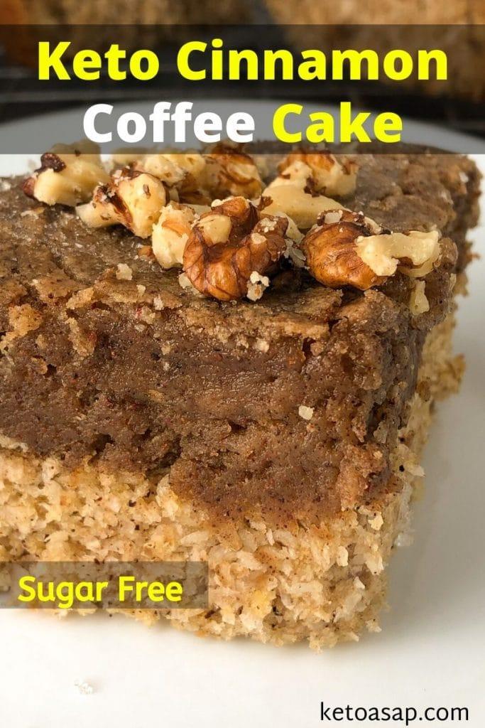 sugar free cinnamon coffee cake