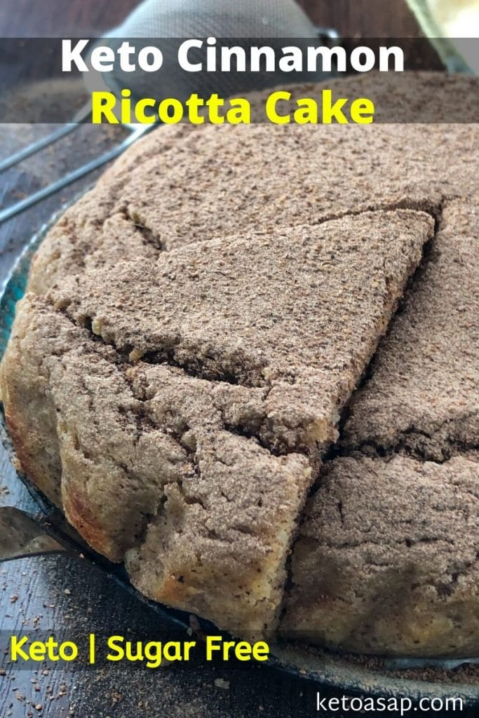 sugar free cinnamon ricotta cake
