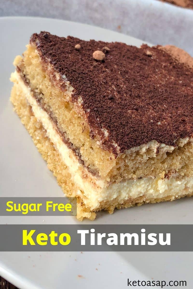 Keto Tiramisu Sugar-Free Low Carb Recipe