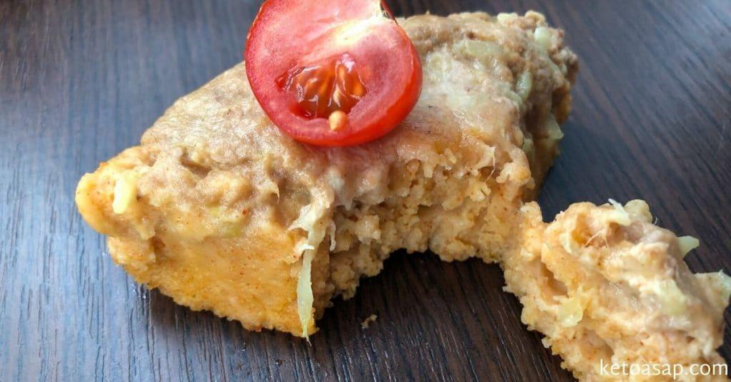 tuna cake almond crust