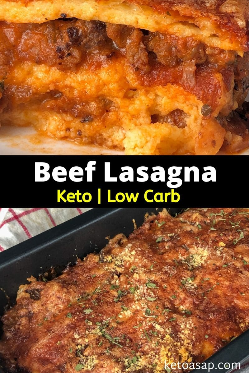 Keto Beef Lasagna With Cheese Dough Pasta