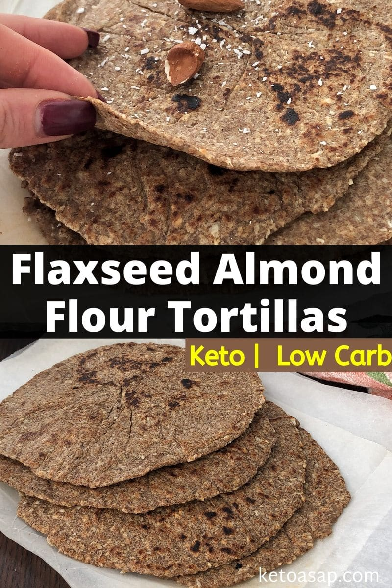 Keto Flaxseed Almond Flour Tortillas Low-Carb Grain-Free