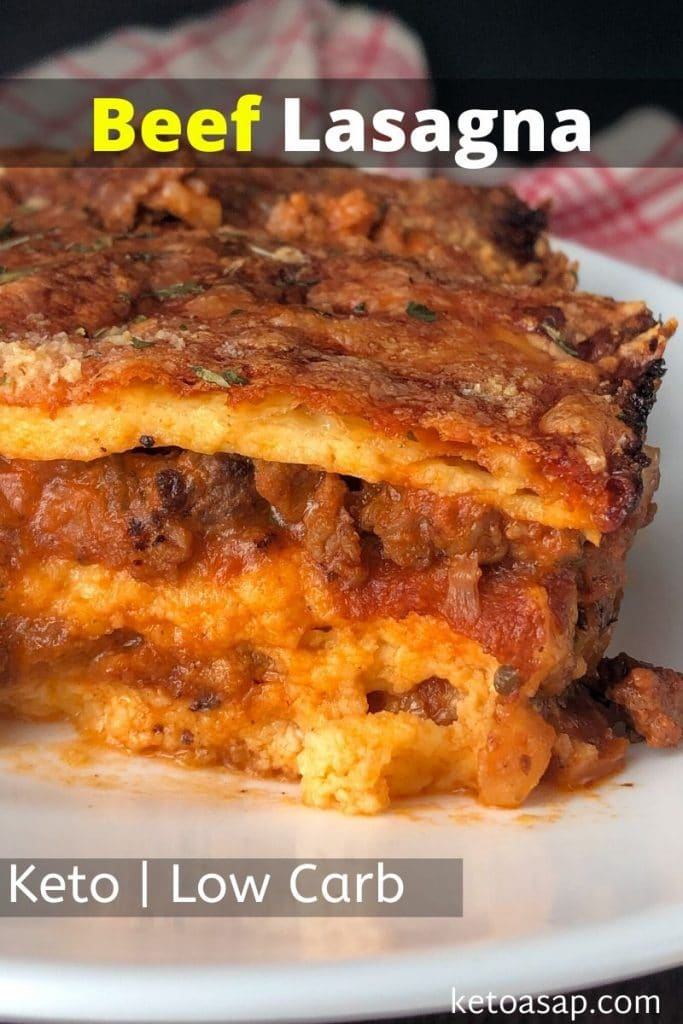 low carb beef lasagna