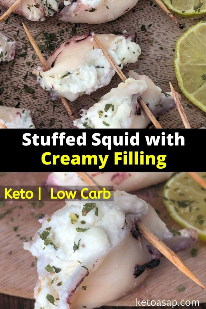 stuffed squid with creamy filling recipe