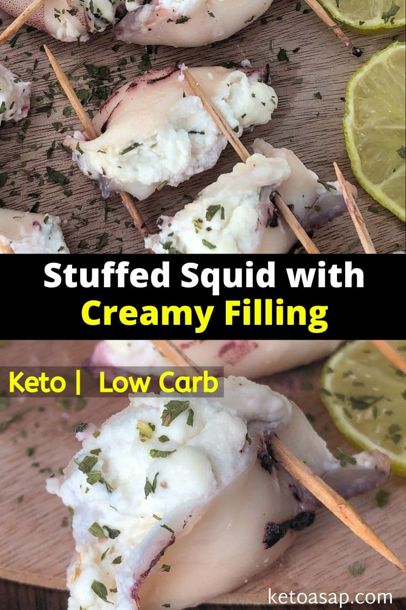 Keto Stuffed Squids With Cream Cheese