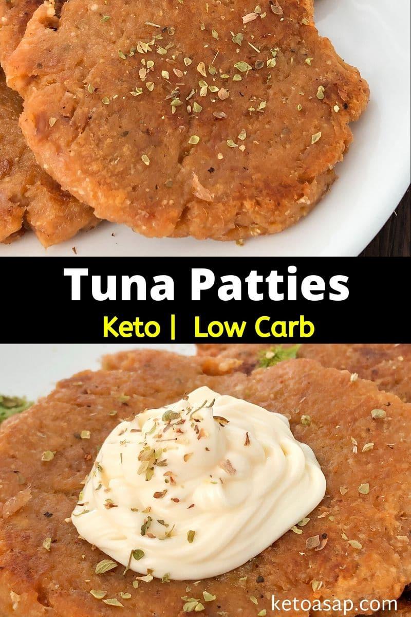Keto Tuna Patties Low Carb Fish Cake Recipe