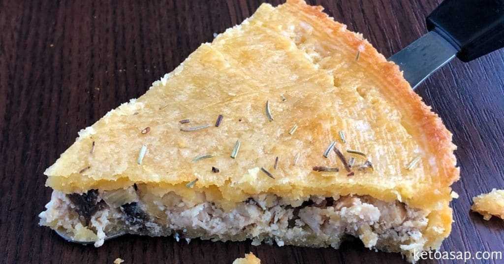 chicken and mushrooms pie
