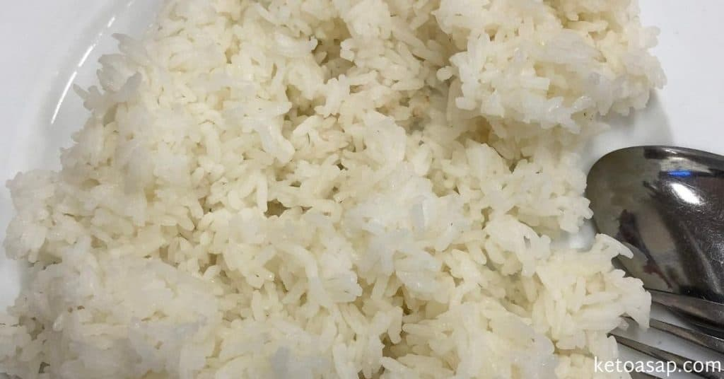 eat rice on keto
