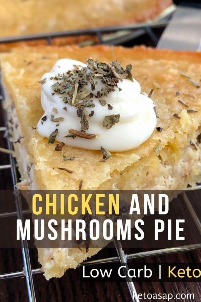 keto chicken and mushroom pie