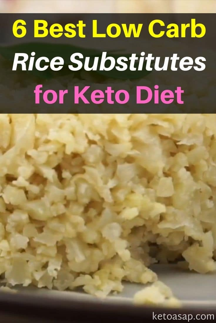 Top 6 Low Carb Rice Alternatives for Keto Diet You Can Try