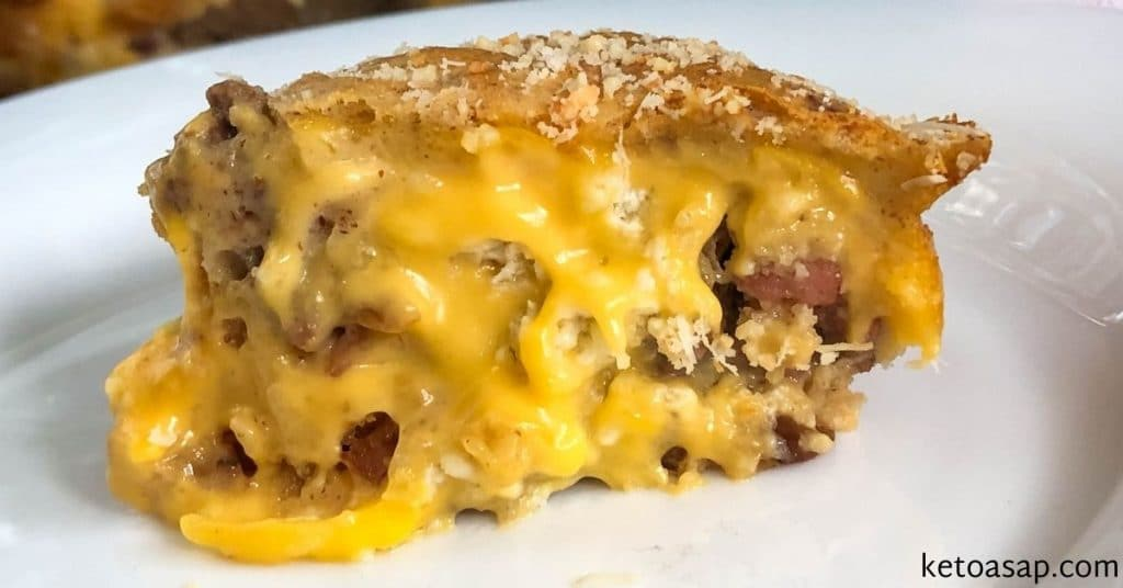 cheeseburger pie with beef