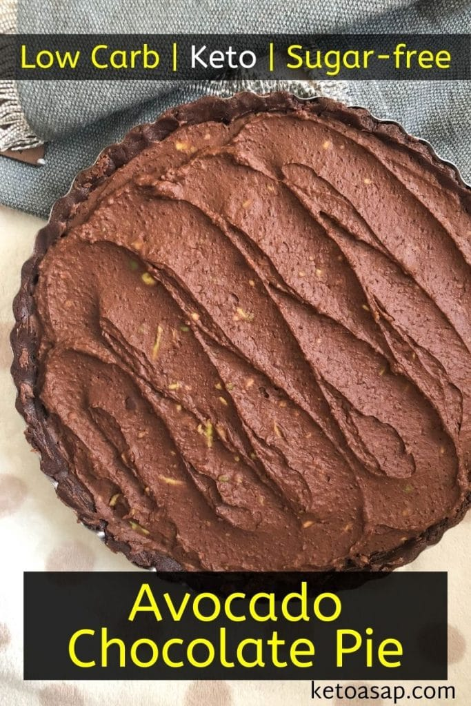 keto avocado chocolate pie