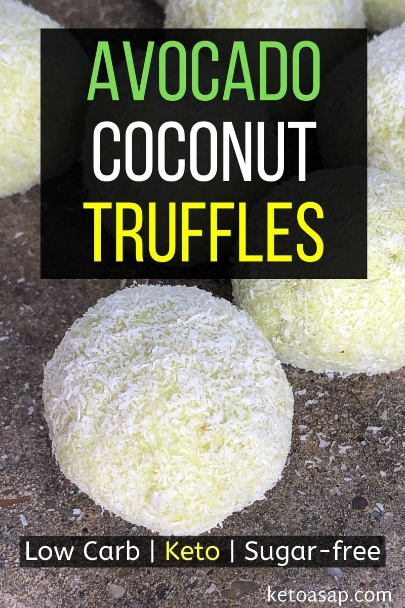 Healthy Keto Avocado Coconut Truffles Low Carb Sugar Free