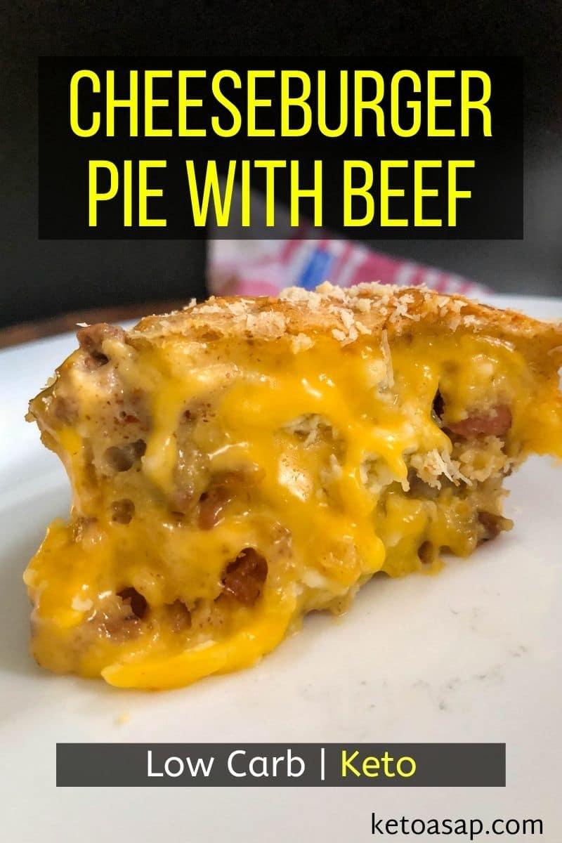 Crustless Keto Cheeseburger Pie Low Carb Recipe