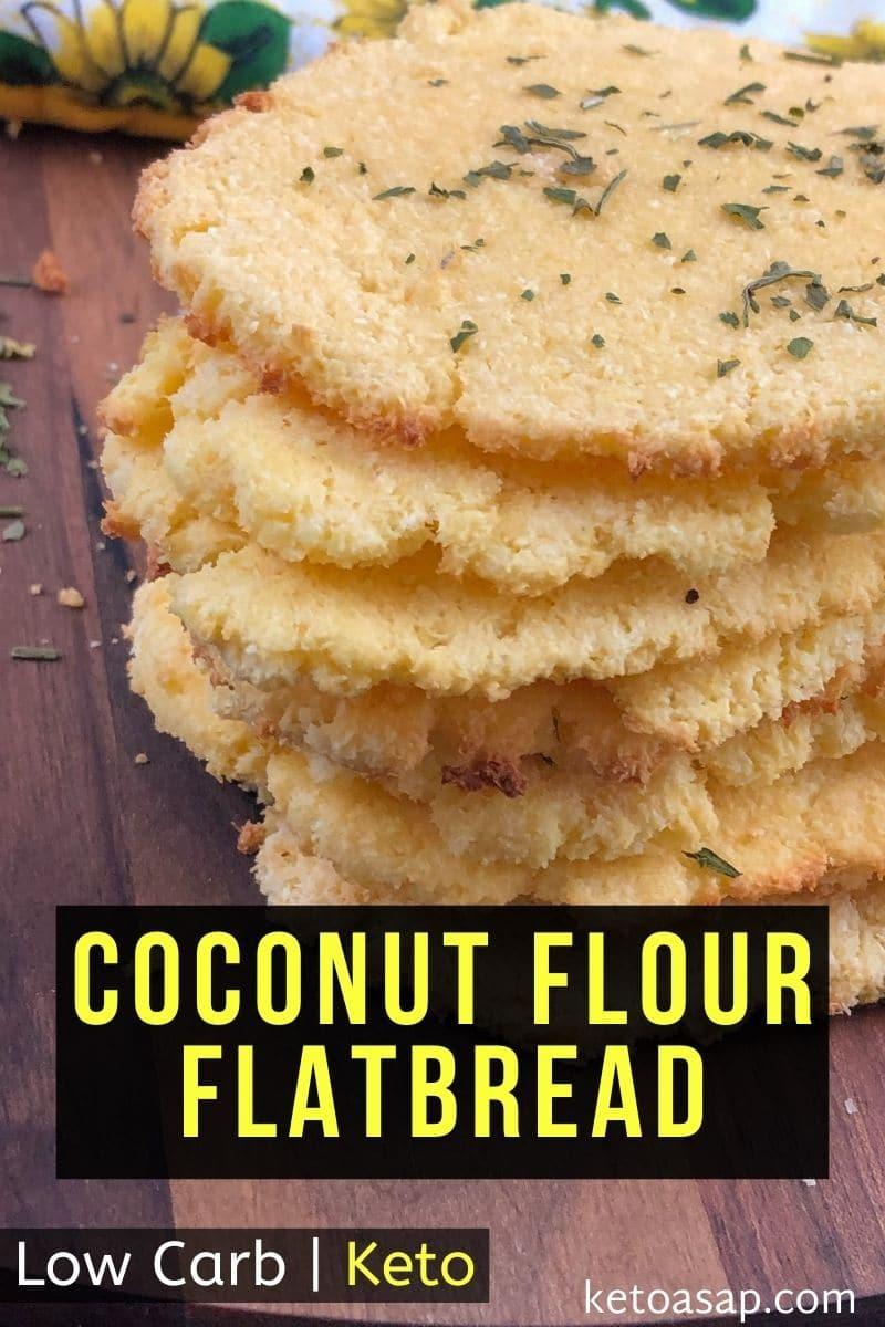 Keto Coconut flour Flatbread - Low Carb Recipe