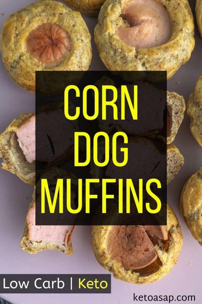 keto corn dog muffins