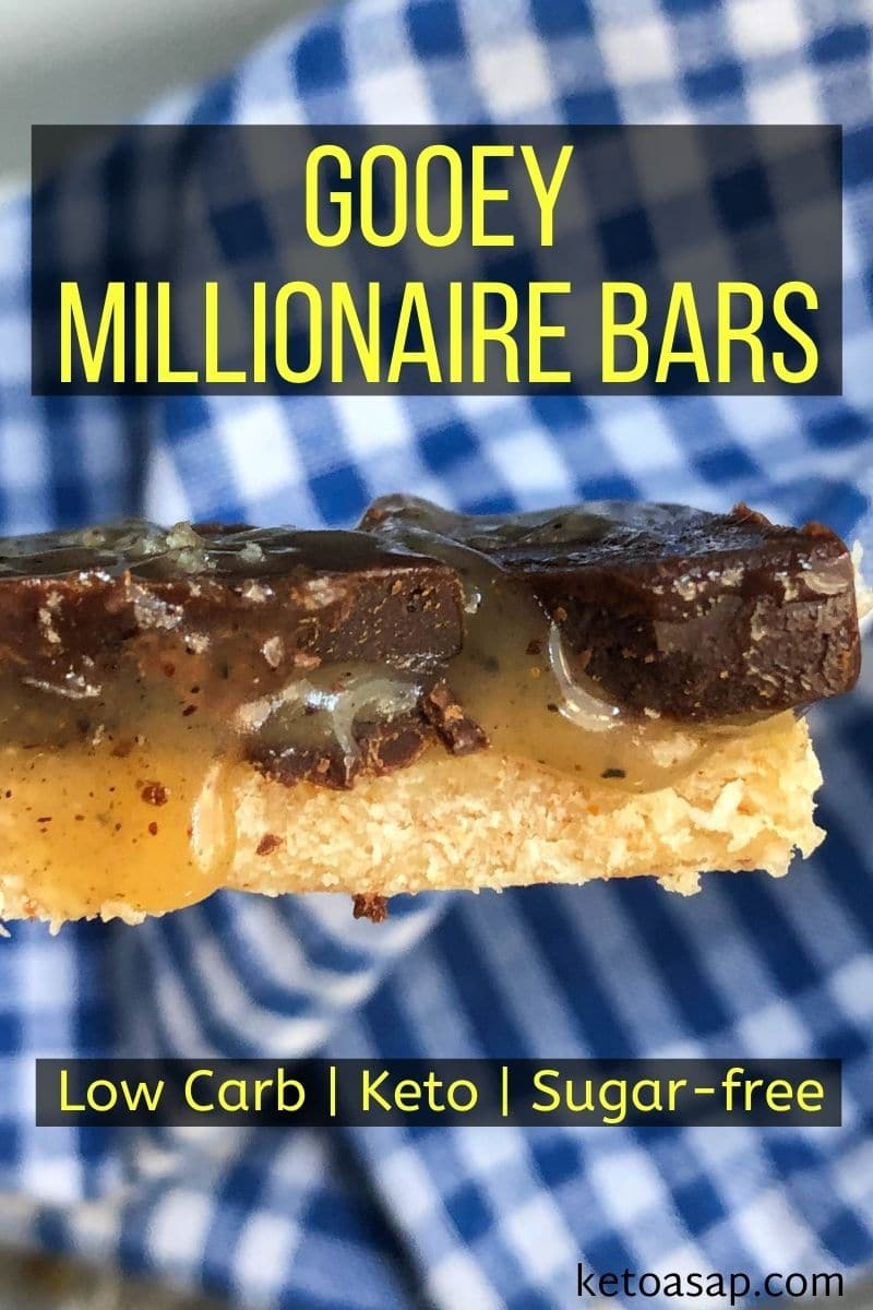 No Bake Gooey Millionaire Bars Low Carb Keto Recipe