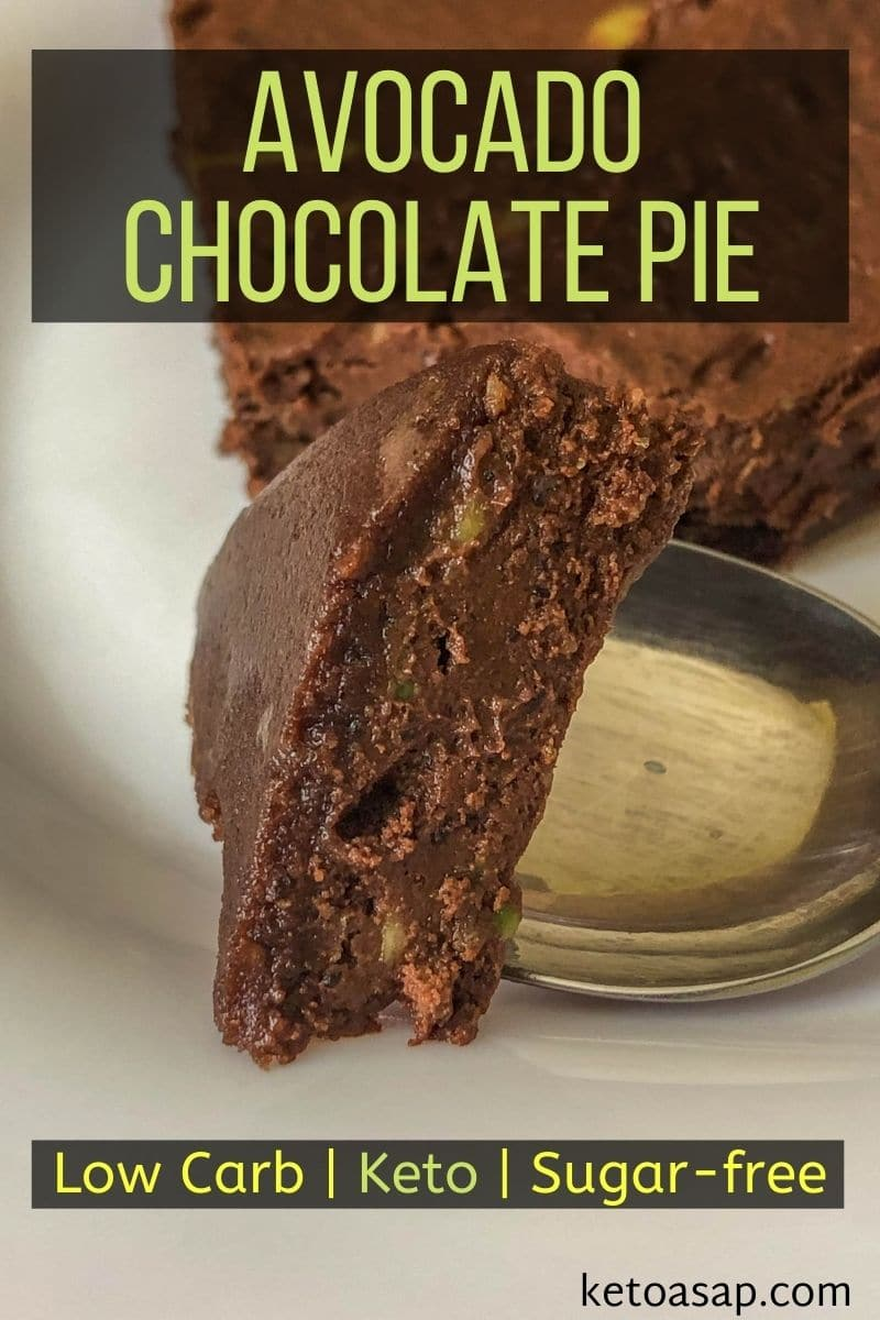 No-Bake Chocolate Avocado Pie Low Carb Keto Recipe