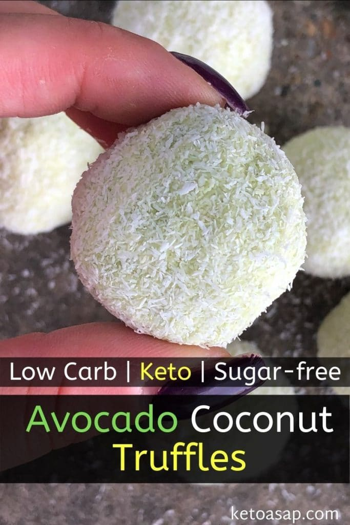 low carb avocado coconut truffles